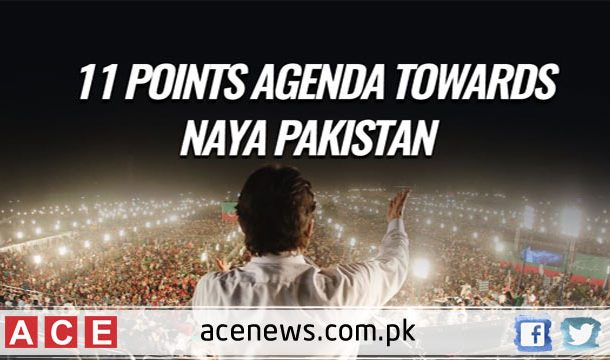 Imran Khan announced 11 points agenda at Lahore public meeting