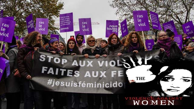 50000 Marched in France to End Sexual Violence Against Women