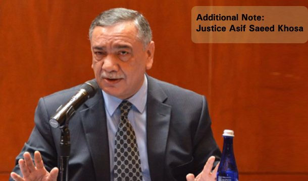 The Additional Note of Justice Asif Saeed Khosa in Aasia Verdict