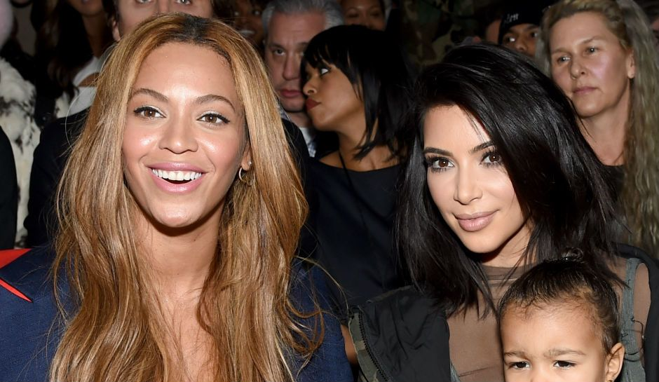 Kim and Beyoncé Keep it Friendly at Serena's Wedding