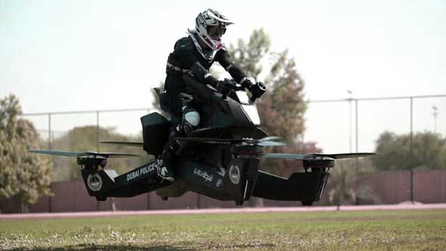 Dubai Police Begin Training On Flying Bikes!