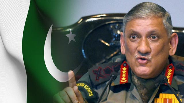 Indian Army chief Attacks On Pakistan's Ideology