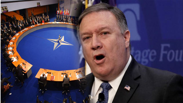 U.S Secretary of State Mike Pompeo Lashes Out at Opponents in Belgium