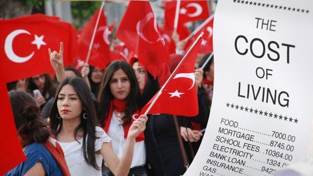Thousands of Turkish Workers Protested Against Rising Cost of Living