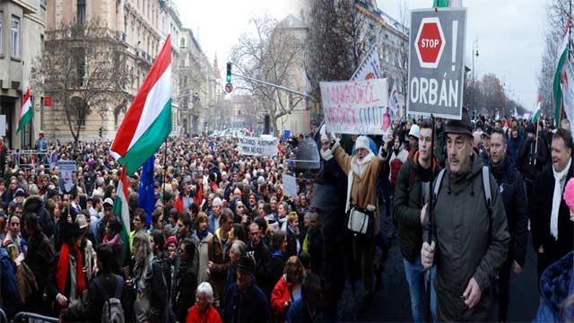 Thousands Marched in Hungry Against Slave Labour Laws