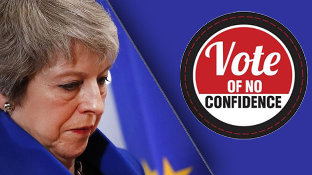 British PM Theresa May Facing Vote of No Confidence in Parliament