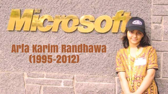 Remembering Youngest Microsoft Certified Professional 'Arfa Karim'