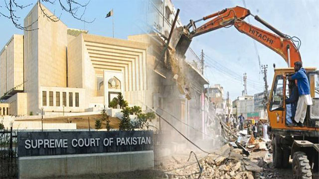 SC Orders to Demolish Illegal Constructions in Karachi