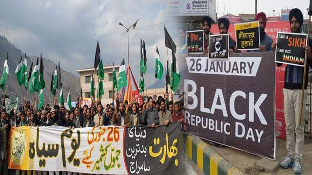 Kashmiris Observing Indian Republic Day, as Black Day