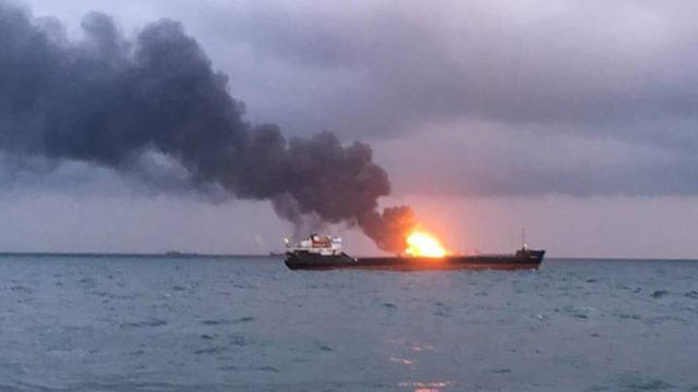 Russia: 10 Dead as 2 Ships Catch Fire