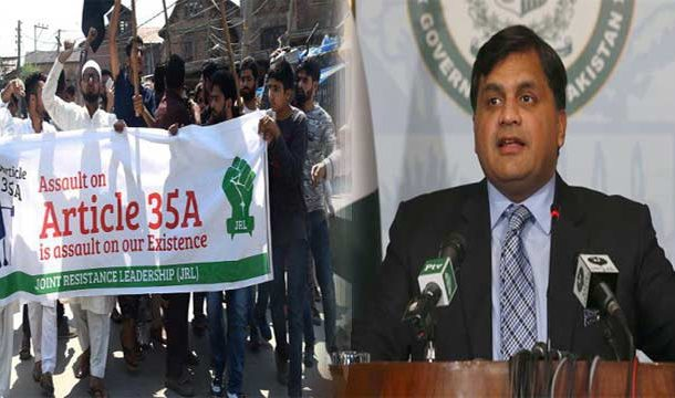 Pakistan Condemns Indian attempts to scrap Article 35A