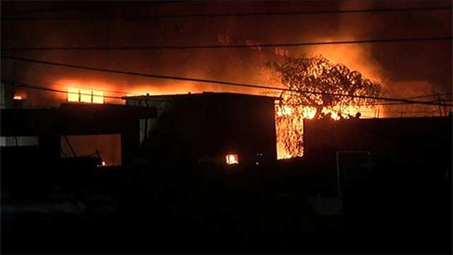 Karachi: Massive Fire in Factory Controlled After 9 Hours
