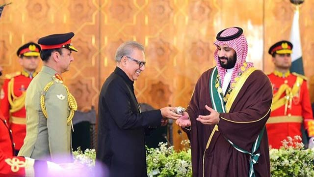 Crown Prince MbS Conferred With Nishan-e-Pakistan