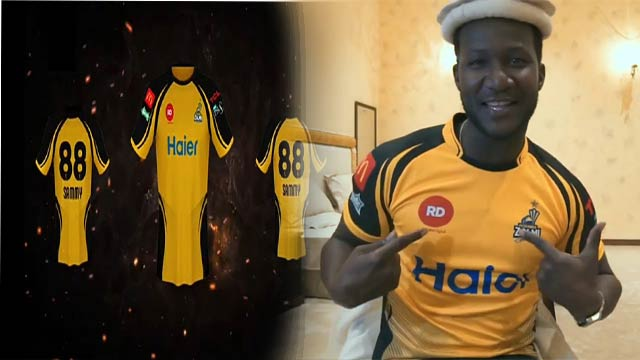 Sammy Unveils Official Kit of Peshawar Zalmi for PSL 4