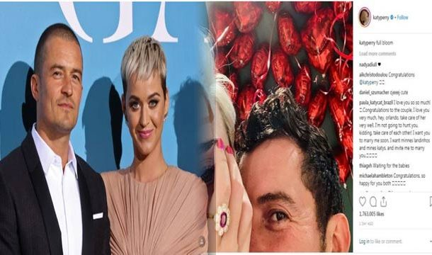 Congratulate Katy Perry and Orlando Bloom! They are Engaged!