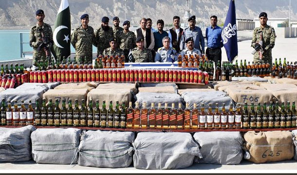 Pakistan Navy Seized Rs20 Million Worth of Liquor