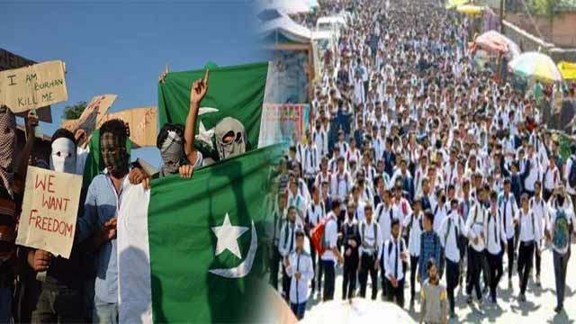 IOK Students Raised 'Pakistan Zindabad' Slogans in Anti-India Protests