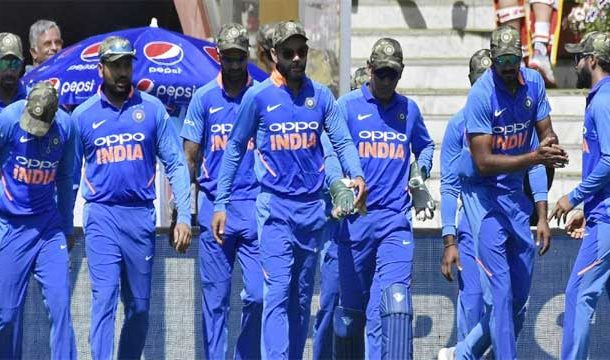 India Drags Politics in Sports, Wear Army Camouflage Caps in ODI