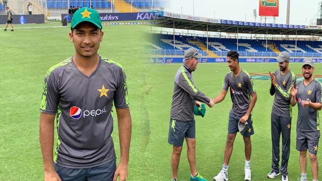 Hasnain Receives ODI Cap in His Debut Match