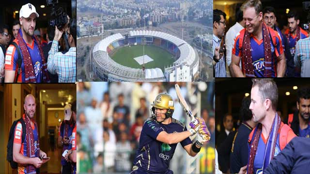 Celebs Welcomes International Cricketers to Pakistan