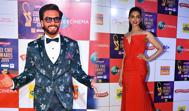 Ranveer And Deepika Received Best Actor & Best Actress Award in Zee Cine Awards 2019