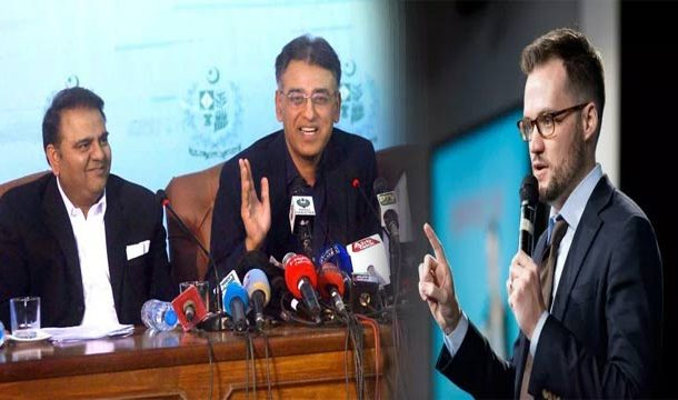 US Comedian Wishes to Replace Asad Umar, Fawad  in Cabinet