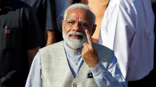 Lok Sabha Election: Modi Votes in Home State