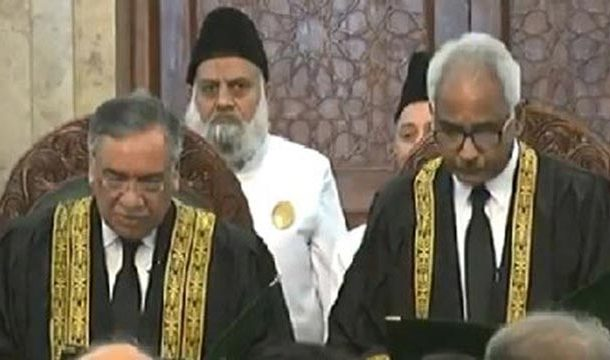 Justice Qazi Amin Takes Oath as SC Judge