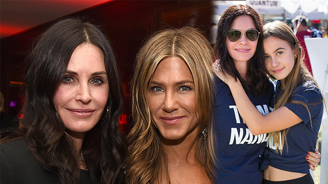 F.R.I.E.N.D.S TV-star, Courtney Cox looks as young as her 14-year-old daughter, Coco at the beach