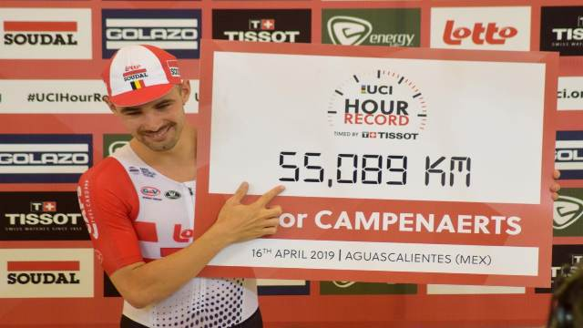Belgium's Campenaerts Sets a New One-Hour World Record