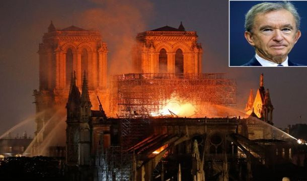 French Billionaire Gives 100 Million Euros For Notre-Dame's Re-Construction