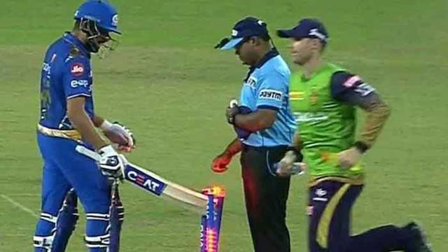 Unhappy Rohit Sharma Hits Stumps to Express Anger