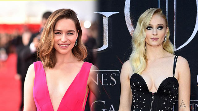 Emilia Clarke and Sophie Turner Pays Tribute to the Fallen Soldiers of Winterfell: