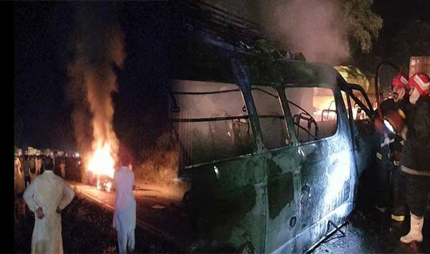 Jhelum: 8 People Burnt Alive as Van Catches Fire