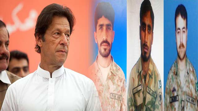 PM Imran Pays Tribute to Soldiers Martyred in Terrorist Attack