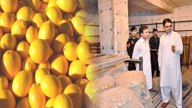 Peshawar: 9,000kg Lemons Seized From Cold Storage