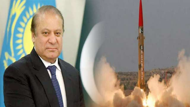 Nawaz Takes Credit For Making Pakistan a Nuclear Power