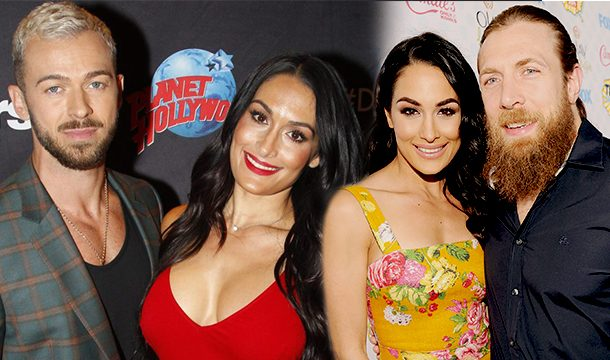 Nikki Bella and Artem Chigvinstev Spotted on a Double With Brie Bella and Daniel Bryan