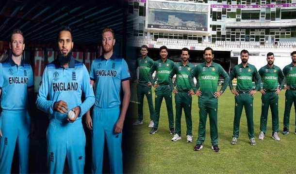 Pakistan, England Unveil Kits for ICC World Cup