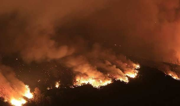 Fire Engulfs North Los Angeles