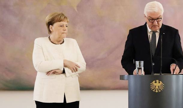 Angela Merkel Seen Shaking Again During Official Ceremony