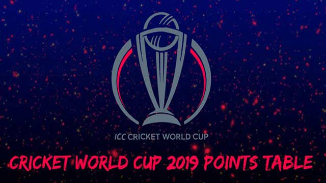 World Cup 2019: Points Table After Five Matches