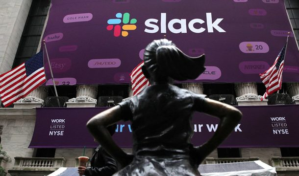 Slack Flying High in Wall Street Debut