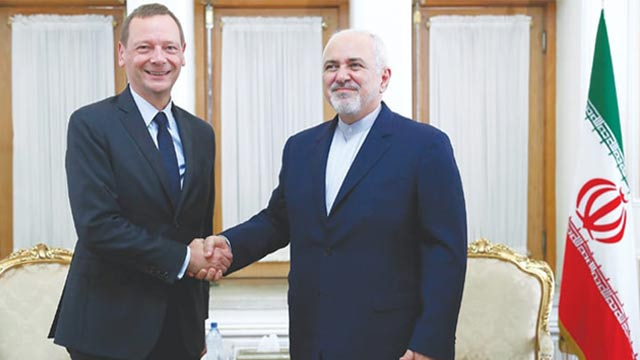 French Delegate Met with the President of Iran.