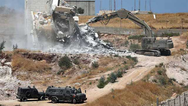 Israel Demolished Palestinian Homes Built Near its Barrier