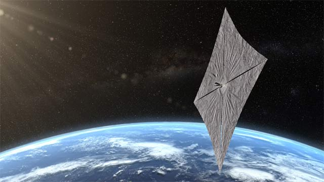 US Spacecraft Deployed Solar Sails in Space