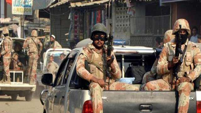Raid in Karachi, Rangers Recovered Huge Cache of Arms and Ammunition.