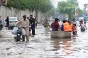 Heavy Monsoon Rain Drowned Lahore