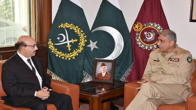 COAS Bajwa Assures AJK President of PAK Army's Full Support