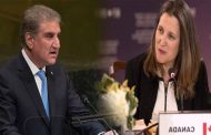 FM Qureshi Apprises Canadian Counterpart on Indian Atrocities in Kashmir